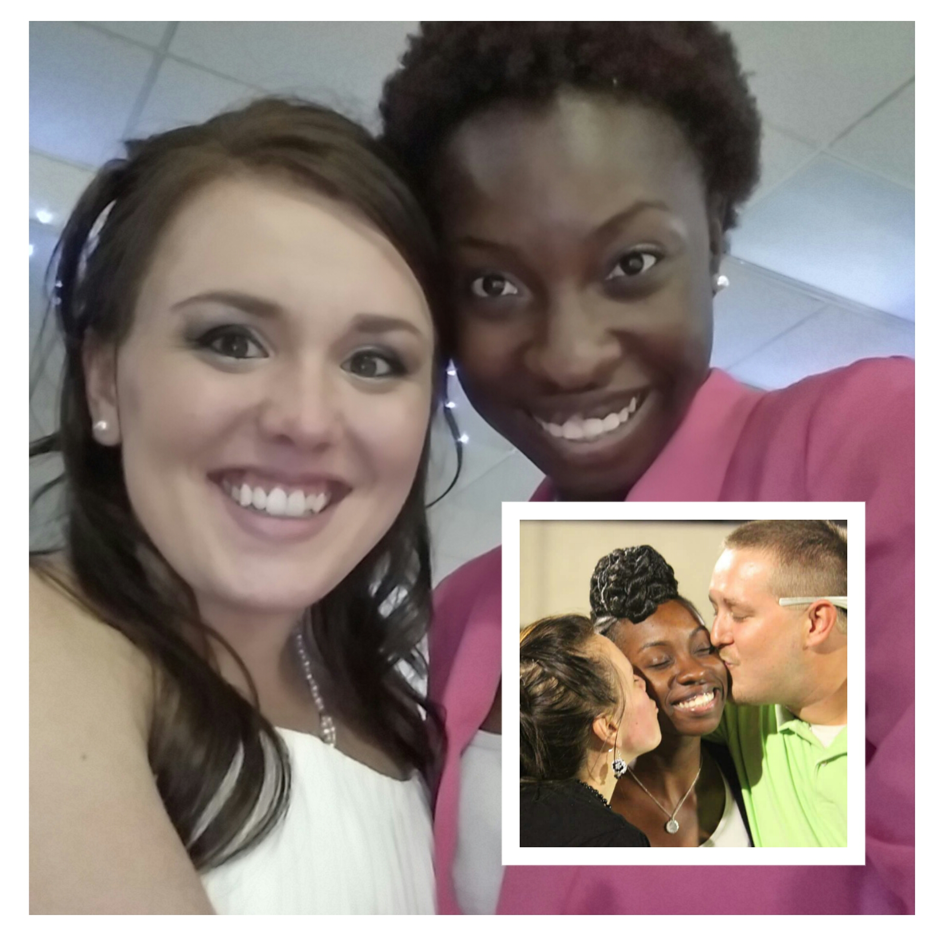 Me at my friend's wedding and at the proposal (2013, they love me lol)