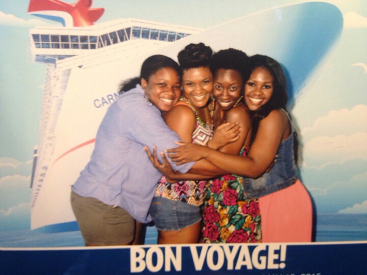 On the cruise with my friends