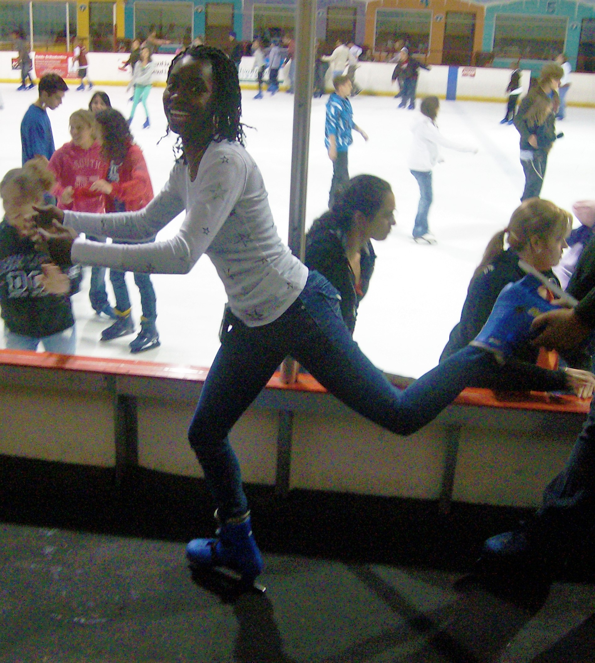 Freshmen year of college I was trying to figure out life and how to be a figure skater (December 2008)